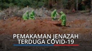 Suasana Haru Iringi Pemakaman Enam Jenazah Terduga Covid-19 di TPU Gandus Palembang