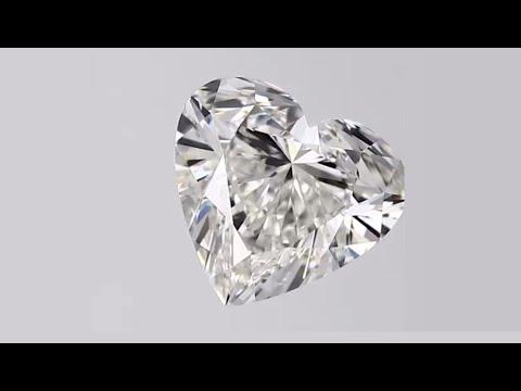 Heart Shape Diamond 2ct G VVS2 CVD TYPE2A 7.73mm Height 8.46mm Width