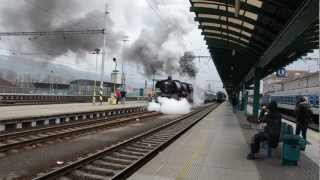 Historický vlak v Děčíně (nutný zvuk, pokud možno hlasitě :-) )