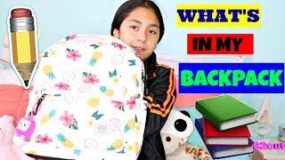WHAT'S IN MY SCHOOL BACKPACK|BACK TO SCHOOL VIDEOS!!!B2cutecupcakes