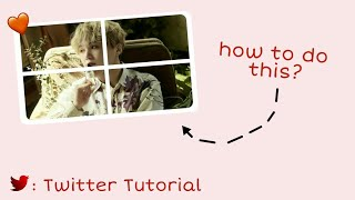 Twitter Tutorial : How to make those 4 pic tweets