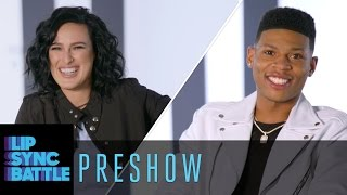 Yazz The Greatest Rumer Willis stopped by the Preshow to talk a