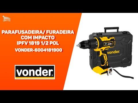 Parafusadeira/Furadeira a Bateria 18V  3/8 Pol. sem Bateria com Maleta IPFV18  - Video