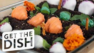 How To Create An Edible Garden Cake!   Get The Dish