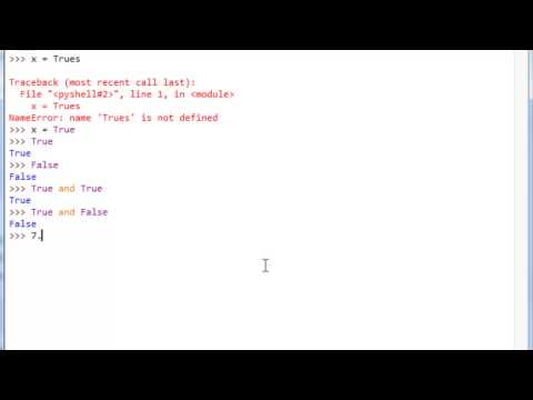 Learn Python Programming Tutorial 16.5 | Intro to Logic