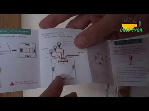 Interrupteur tactile SESOO SY2 01W et télécommande 433.92MHz compatible domotique