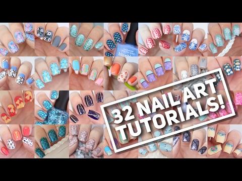 32 NAIL ART TUTORIALS! | Nail Art Design Compilation