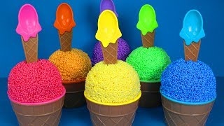 6 Play Foam Ice Cream Cup Surprise Toys Learn Colors Play Doh MLP Surprise Eggs Minions
