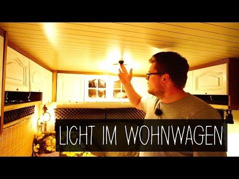 Licht im Wohnwagen | 12 Volt und 230 Volt | Unsere Beleuchtung in LED
