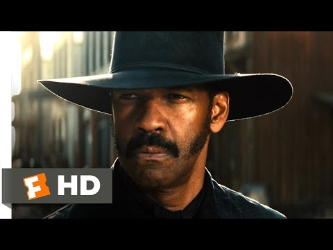 The Magnificent Seven (2016) - Town Shootout Scene (4/10) | Movieclips