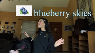 Blueberry Skies Original By Audrey MiKa
