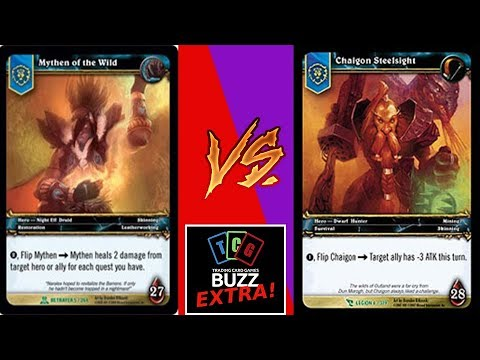 REAL LIFE HEARTHSTONE! World of Warcraft Trading Card Game Legacy Match! (Cancelled Card Game)