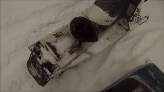 did that really just happen!!!!!,  ripping the sled in te powder pt 1