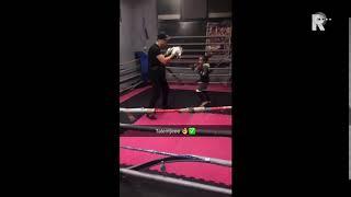 Wereldkampioen Amira in actie tijdens een training