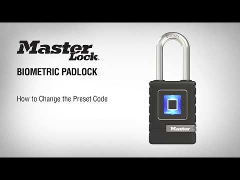 4901 Biometric Padlock: How to Change Preset Combination Code