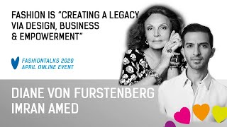Diane Von Furstenberg & Imran Amed, BoF Business of Fashion, Fashinnovation Worldwide Talks 2020