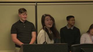 All-State Band Champs Recognized at Union Board Meeting