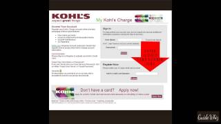 Activate the Kohl's Charge Card