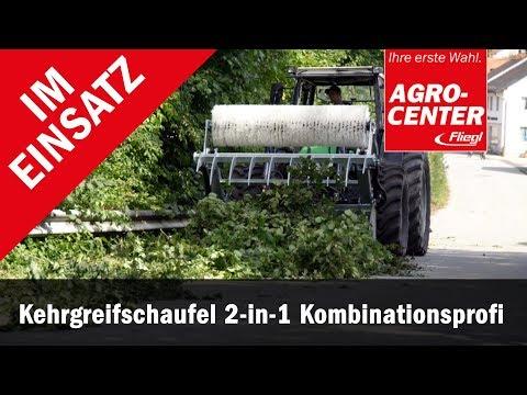 Kehrgreifschaufel Schaufel + Kehrmaschine im Einsatz | Fliegl Agro Center