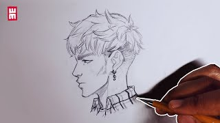 How To Draw Anime Face PROFILE SIDE VIEW   Manga Drawing Tutorial