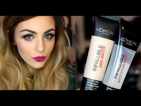 *NEW PRODUCT REVIEW* Loreal Infallible Pro-Matte 24HR Foundation & Primer