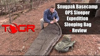 Inexpensive but Heavy! - Snugpak Basecamp OPS Sleeper Expedition Sleeping Bag - Review