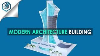 MODEL MAKING OF MODERN ARCHITECTURAL BUILDING #7