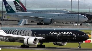 preview picture of video 'Air New Zealand 777-319ER's Landing at Auckland Airport'