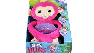 Fingerlings Hugs Plush Interactive Monkey Bella Unboxing Toy Review