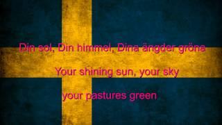 Sweden National anthem English lyrics]