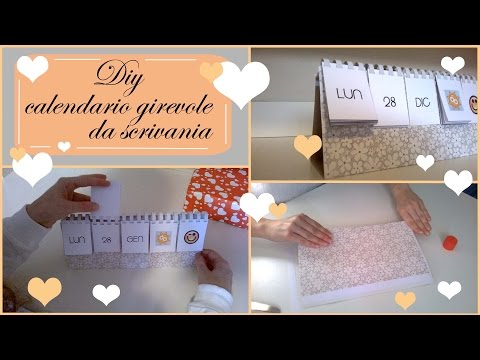 Diy - Calendario girevole da scrivania
