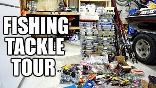 TACKLE ORGANIZATION DAY!!! --Unboxing/Touring ALL My Bass Fishing Tackle 2018