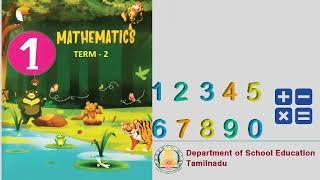 1st std -Term 2 - Maths (E/M) - Page 2 - QR Code Videos