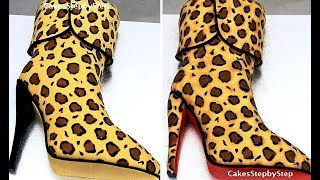 How To Make A Fashion High Heel Boot Cake By Cakes StepbyStep