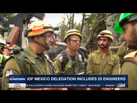 Israeli Military Team Aids Rescue – Mexico Earthquake