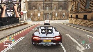 Bugatti Chiron - Forza Horizon 4   Logitech g29 gameplay