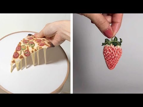 Super Realistic Food Made with Embroidery
