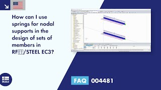 FAQ 004481 | How can I use springs for nodal supports in the design of sets of members in RF‑/STEEL EC3?