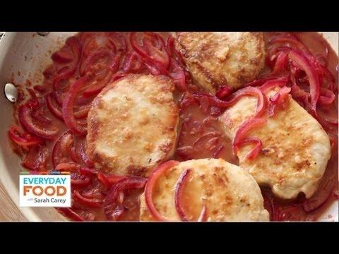 Pork with Tangy Citrus Sauce   Everyday Food with Sarah Carey