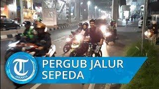 Pesepeda di Jakarta Minta Semua Pengguna Jalan Patuhi Pergub Jalur Sepeda