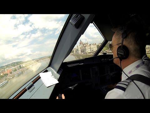 hqdefault - Un avión de pasajeros haciendo un vuelo a bajisima altura en Budapest