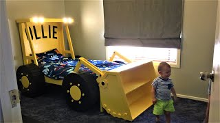 Kids Beds, Building A Loader Tractor Bed With Headlights, Boys Bedroom Design, Woodworking Projects