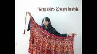 Long Ethnic Wrap Skirt - 20 Ways To Wear