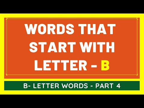 #4 NEW Words That Start With B | List of Words Beginning With B Letter [VIDEO]