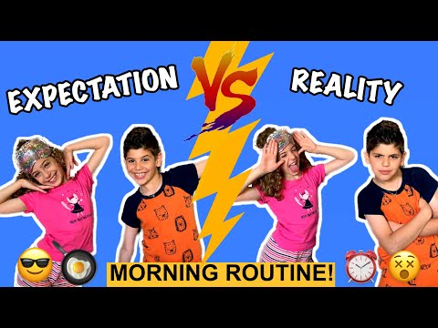 Expectation VS Reality | Kids School Morning Routine!