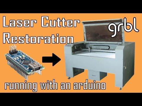 Laser Cutter Restoration with an arduino   MakerMan