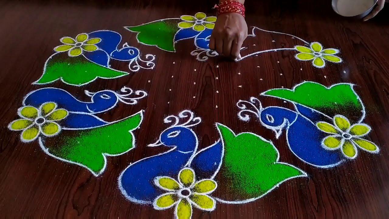 muggulu rangoli design for sankranthi by sresta