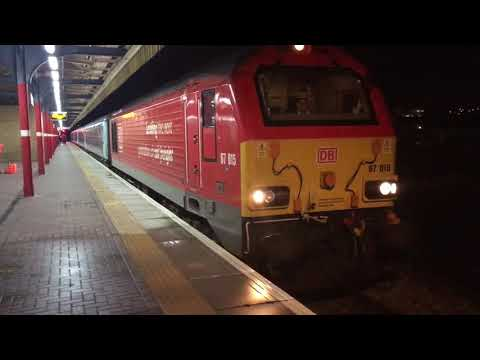DB Cargo 67015 departs Warrington Bank Quay 25th January 201…