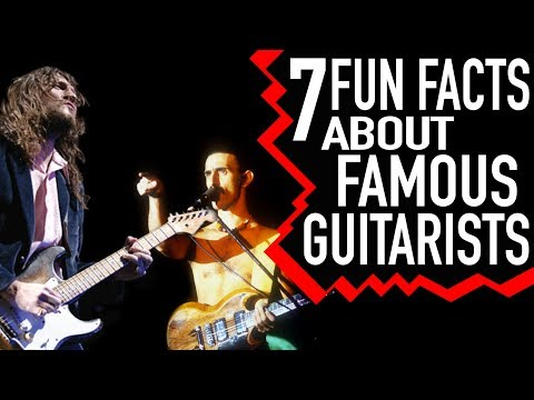Fun Facts About Famous Guitarists