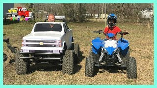 RACE Mini Monster Truck And Polaris 4 Wheeler Outlaw 110